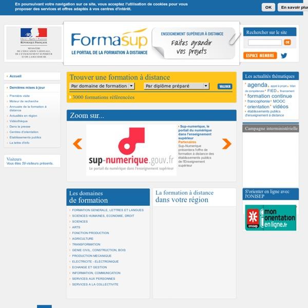Portail Formasup, enseignement supérieur à distance - MESR