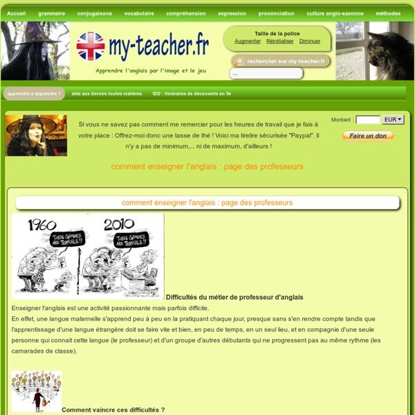 Enseigner l'anglais : page des professeurs