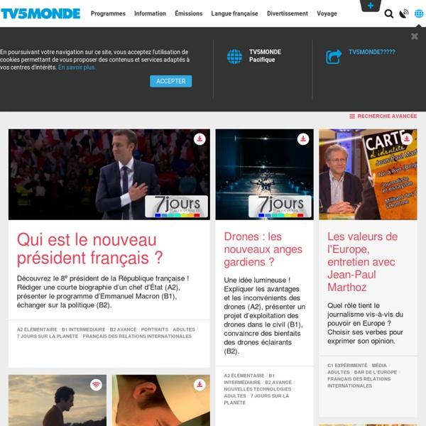 TVMONDE / FLE / Enseigner.TV: des ressources pour la classe de français avec TV5MONDE