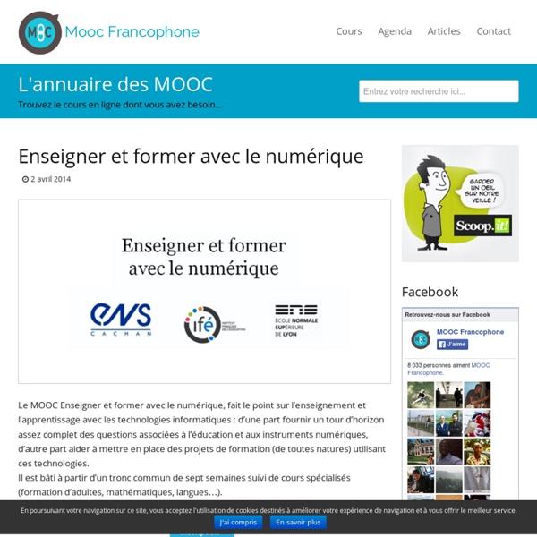 MOOC Enseigner et former avec le numérique