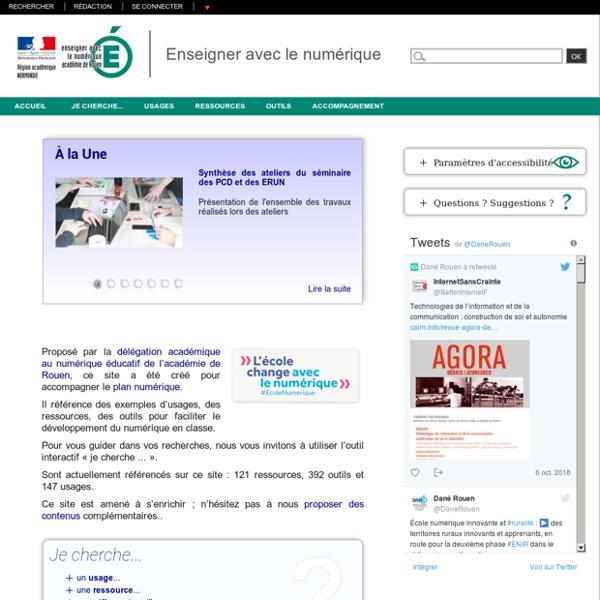 Enseigner avec le numérique (ressources)