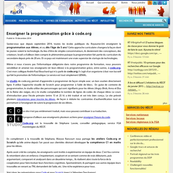 Enseigner la programmation grâce à code.org