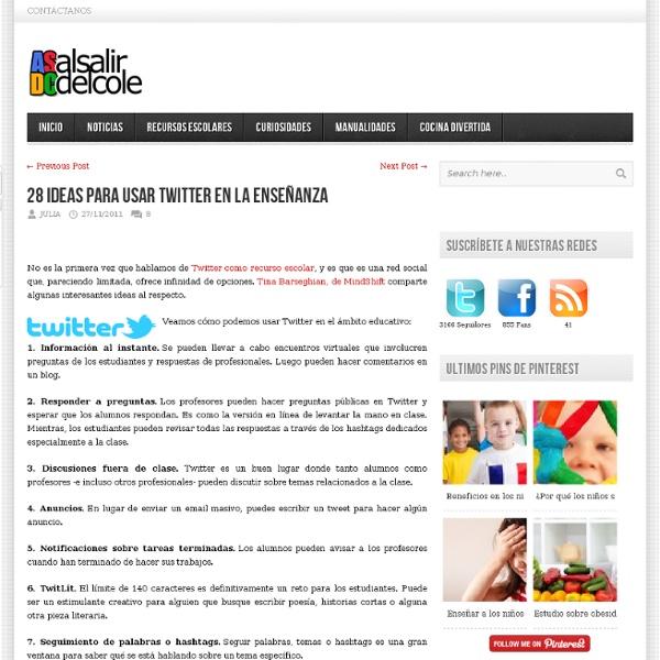 28 ideas para usar Twitter en la enseñanza