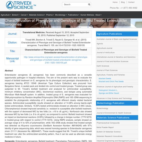 Evaluation of Phenotype and Genotype of Enterobacter Aerogenes