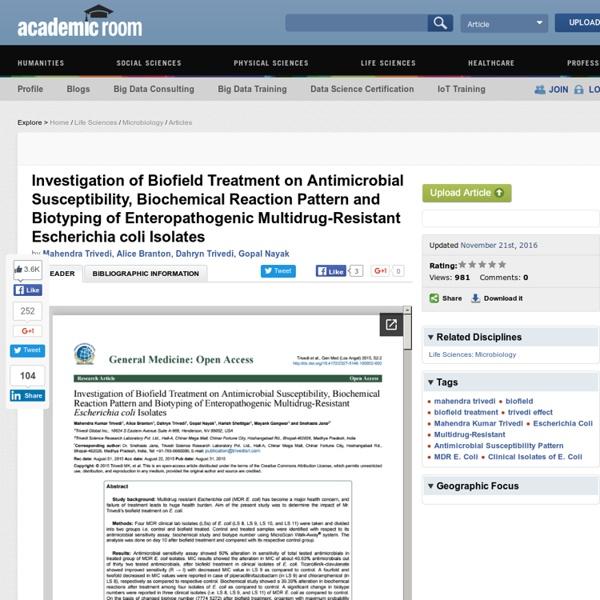 Experimental results of Escherichia Coli Antibiotic Sensitivity Assay