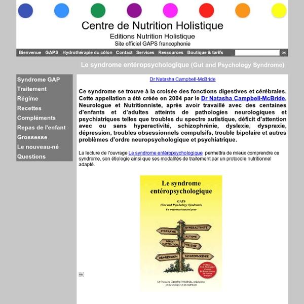 Le syndrome entéropsychologique (Gut and Psychology Syndrome)