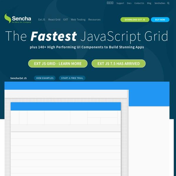 JavaScript Frameworks for Desktop & Mobile. Build HTML5 Apps for Any Browser.