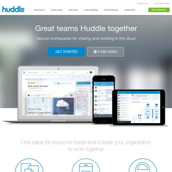 Huddle - Project Management Software, Collaboration Software & File Storage