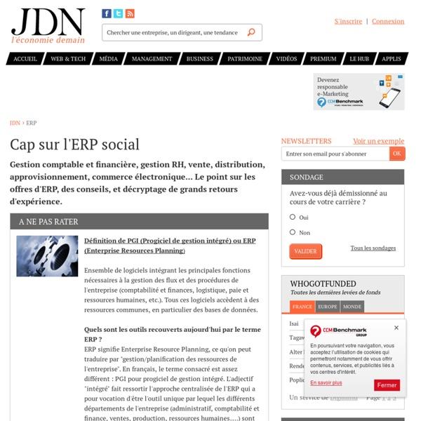 ERP - Enterprise Resource Planning : solutions, retours d'expérience, conseils