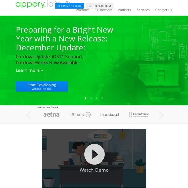 Cloud-based Mobile App Builder