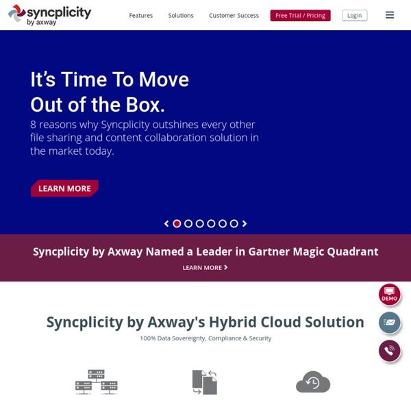 Leader in Enterprise File Sync & Sharing