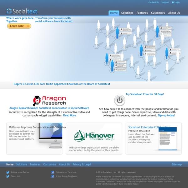 Enterprise Social Network and Enterprise Social Software - Socialtext