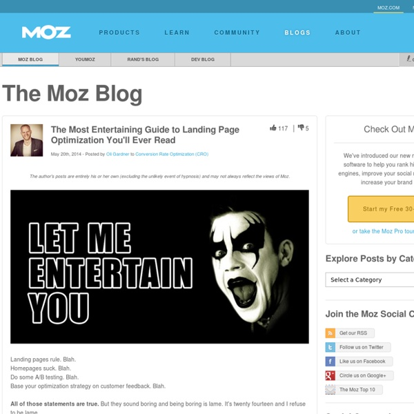 The Most Entertaining Guide to Landing Page Optimization You'll Ever Read