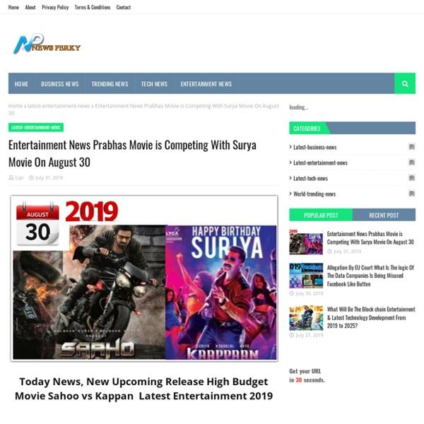 Entertainment News Prabhas Movie is Competing With Surya Movie On August 30