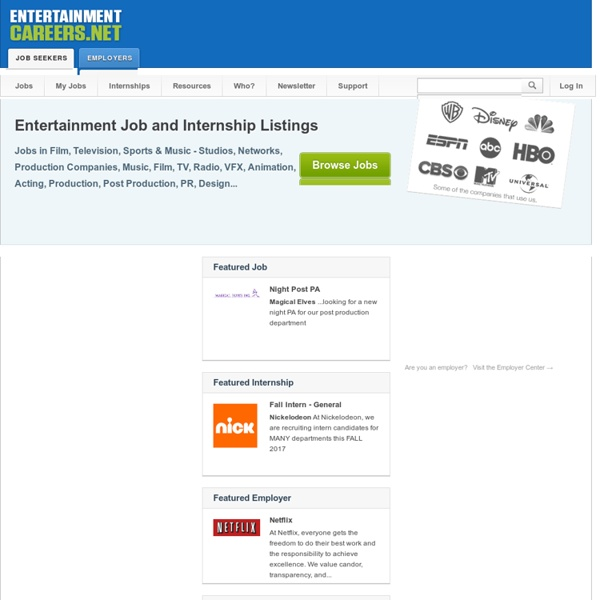 Entertainment Jobs and Internships