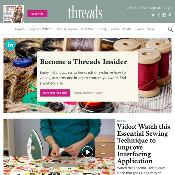 Threads - For People Who Love to Sew