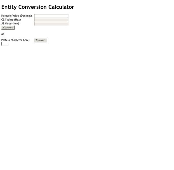 Entity Conversion Calculator