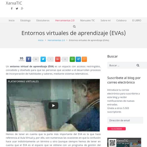 Entornos virtuales de aprendizaje (EVAs)