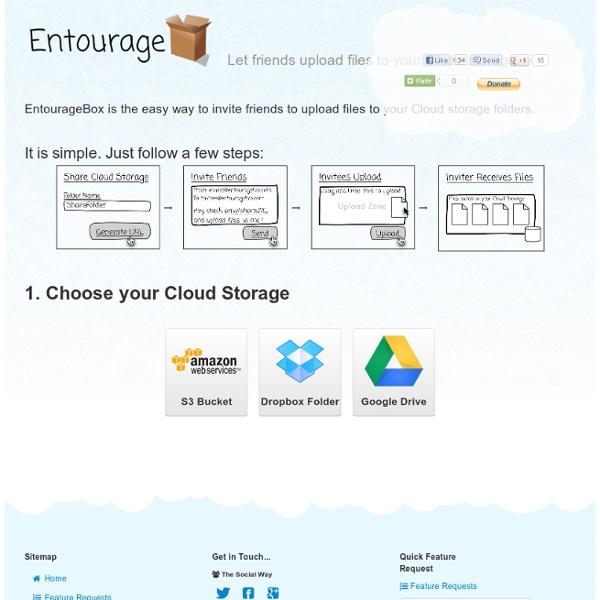 EntourageBox - Invite Friends to Upload to your Cloud Storage