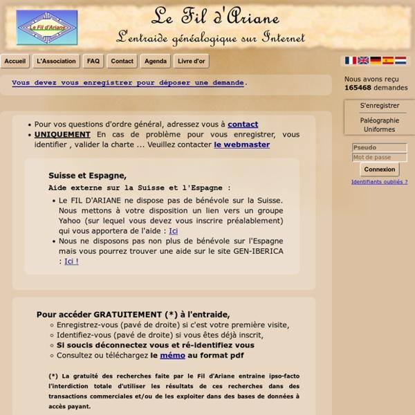 Le Fil d'Ariane : l'Entraide Généalogique sur Internet