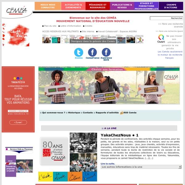 Site officiel des Ceméa - Mouvement national d'éducation nouvelle