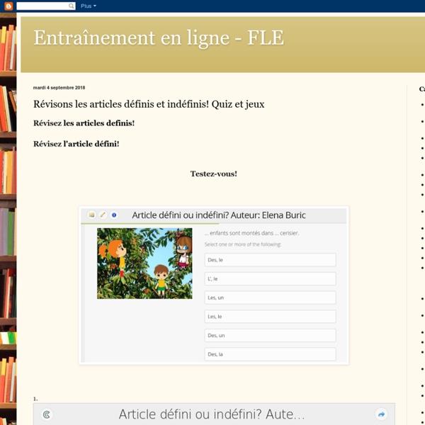Entraînement en ligne - FLE