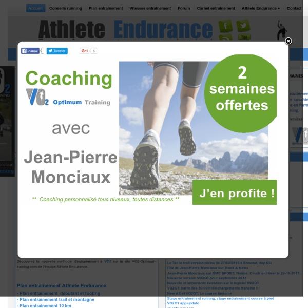 PLAN ENTRAINEMENT 10KM, jogging, semi, marathon, trail