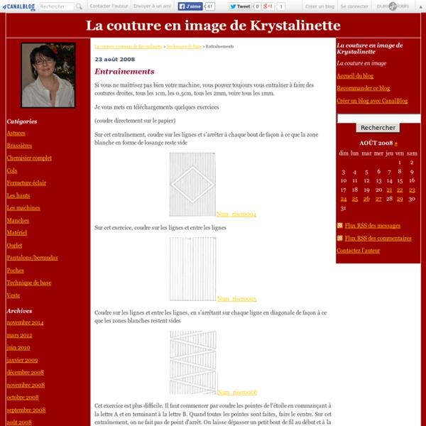 Entraînements - La couture en image de Krystalinette