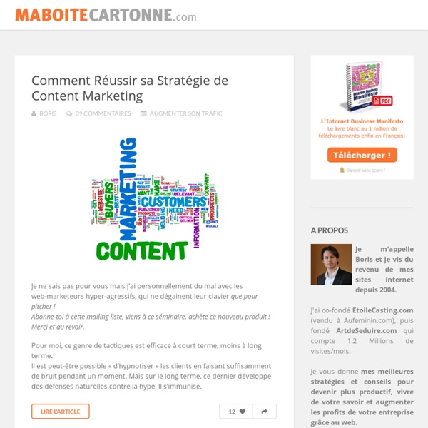 Formation webmarketing : MaBoiteCartonne.com