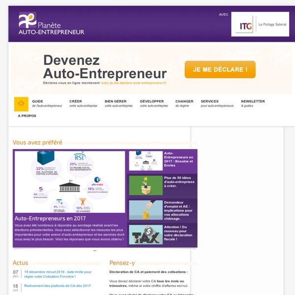 Planète Auto-Entrepreneur, le portail pour réussir en autoentrepreneur