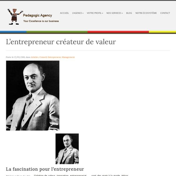 L'entrepreneur créateur de valeur
