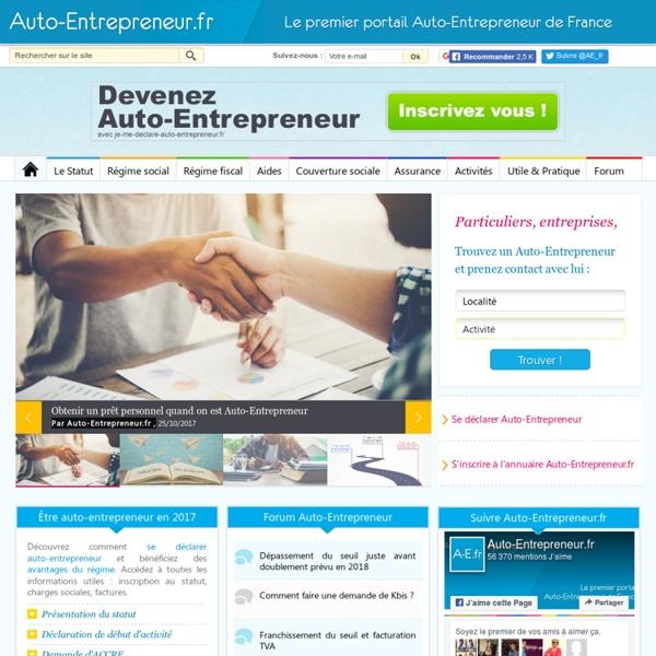 Auto-Entrepreneur.fr - Premier Portail de France