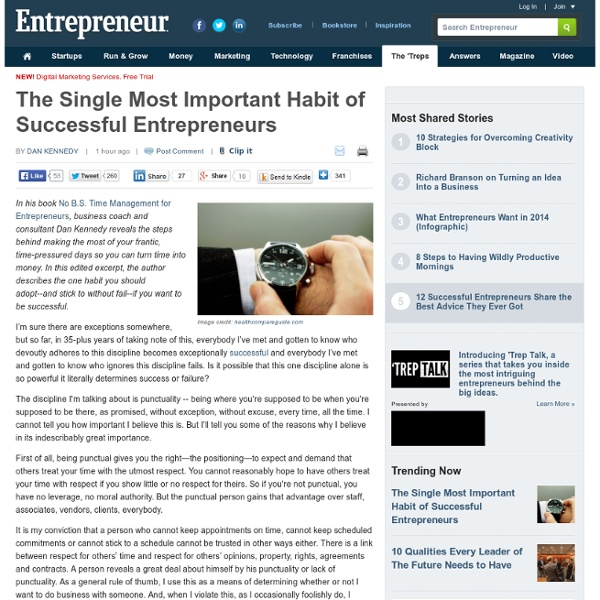 The Single Most Important Habit of Successful Entrepreneurs