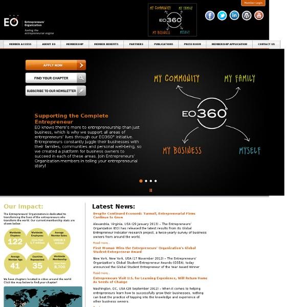 Entrepreneurs' Organization - Fueling the Entrepreneurial Engine