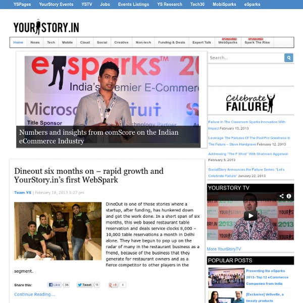 India's Biggest Platform for Entrepreneurs, Startups, Business Ideas, Product Reviews, Small Business Resources - Yourstory.in