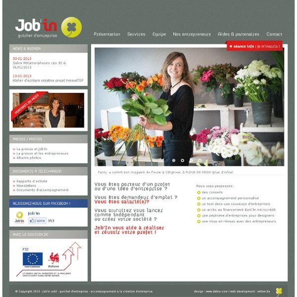 Accueil - Job'in - guichet d'entreprise - accompagnement à la création d'entreprise