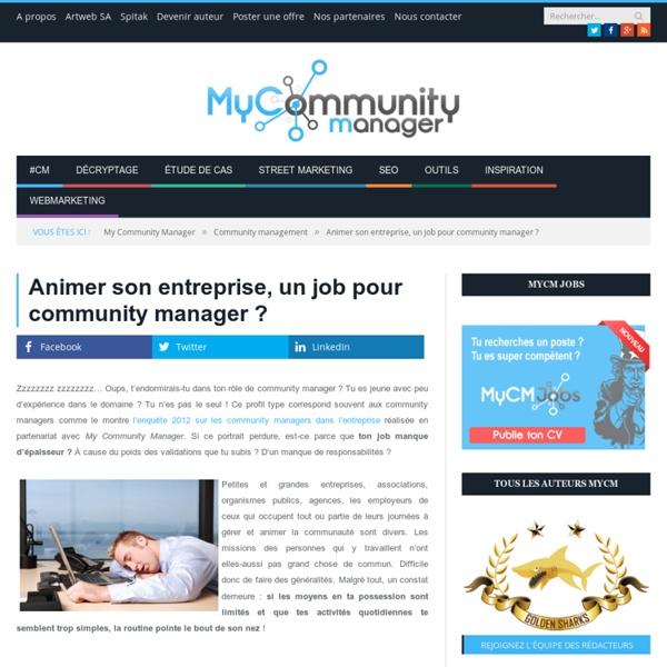 Animer son entreprise, un job pour community manager ?