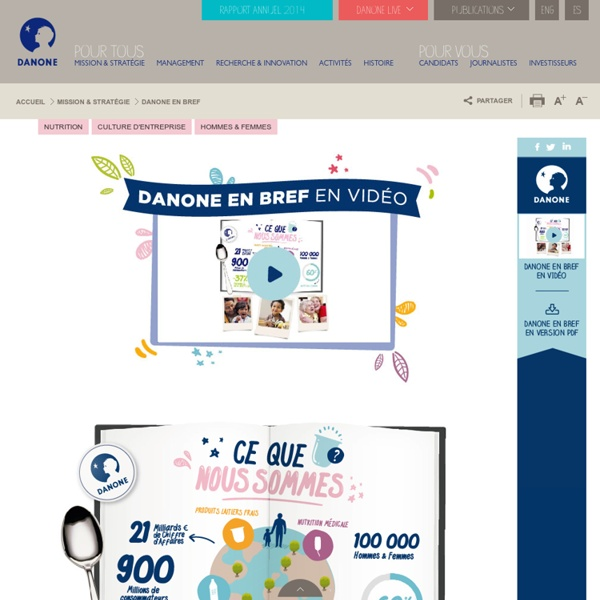 Entreprise Danone, présentation Danone