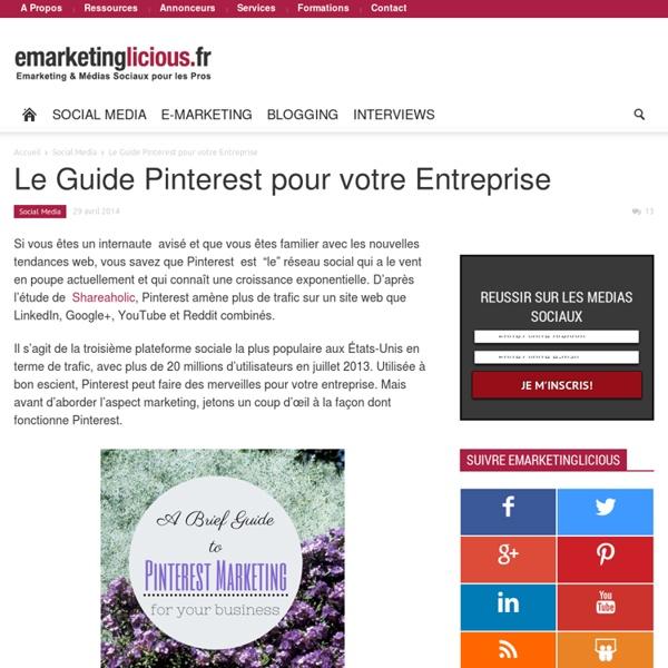 Le Guide Pinterest pour votre Entreprise