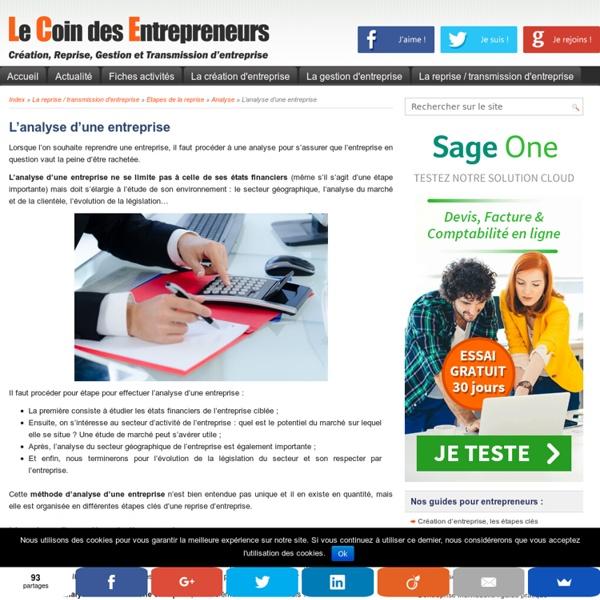Analyse financière et économique de l'entreprise