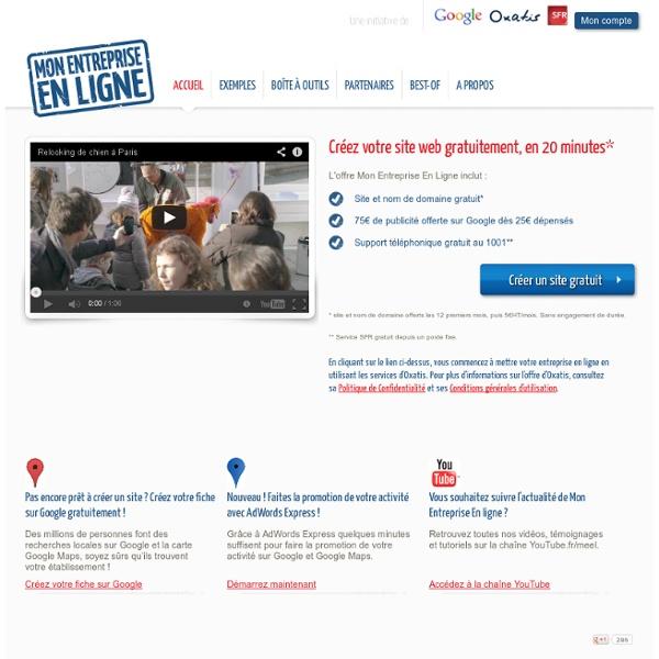 Mon Entreprise En Ligne - Une initiative de Google, Oxatis et SFR pour aider les PME à créer leur site internet