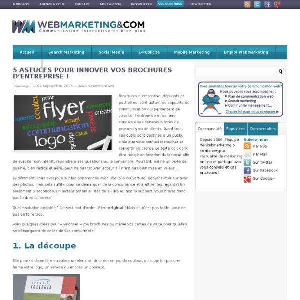 5 astuces pour innover vos brochures d'entreprise !