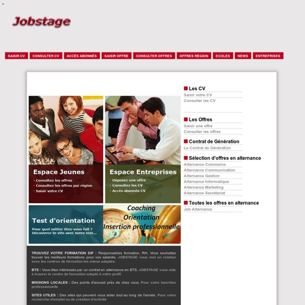Job stage : stages jobs emplois alternance, stages en entreprises,apprentissage