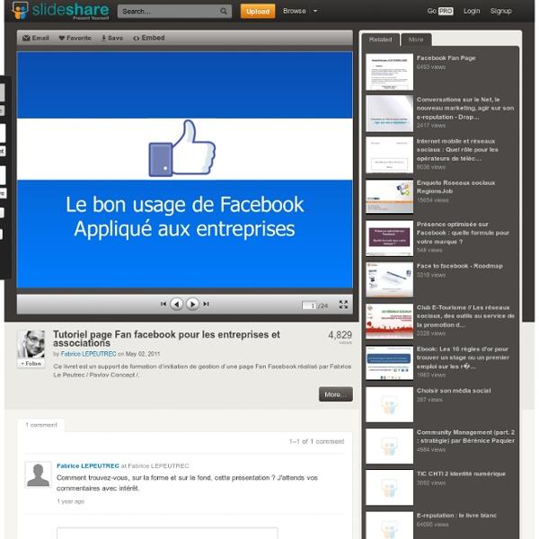 Tutoriel page Fan facebook pour les entreprises et associations