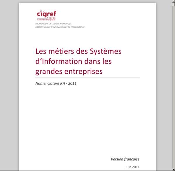Les métiers des Systèmes d'Information dans les grandes entreprises