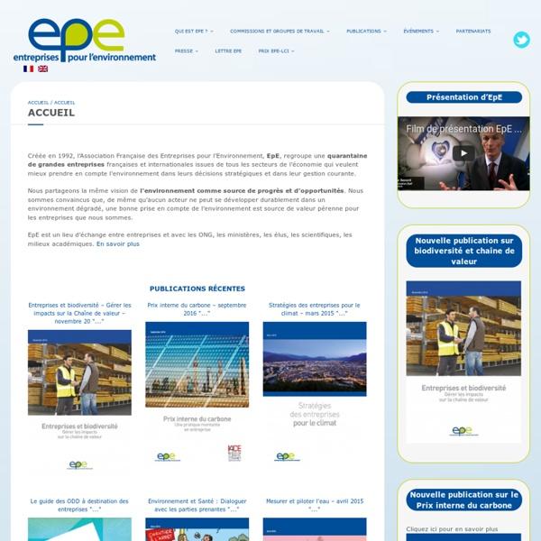 EPE - Entreprises pour l'Environnement