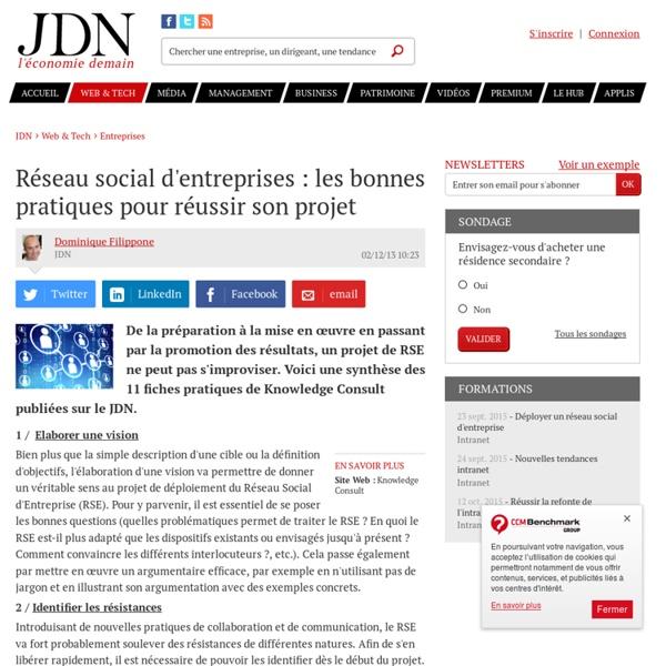 Réseau social d'entreprises : les bonnes pratiques pour réussir son projet
