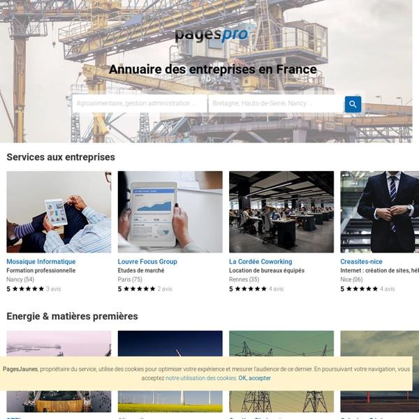 Annuaire BtoB des entreprises françaises : PagesPro