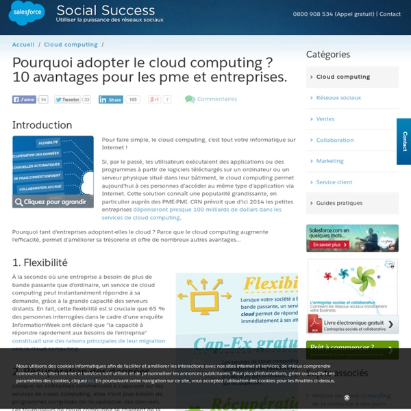 Les 10 avantages du cloud computing pour les entreprises et PME