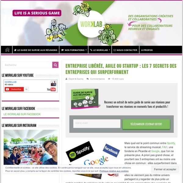 2015/08 - Entreprise libérée, agile ou startup : les 7 secrets des entreprises qui surperforment